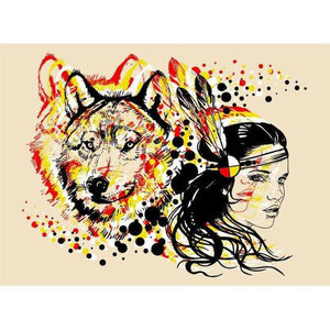 Mother Of Wolves- ScreenPrint-Chippewar-First-Nations-Artist