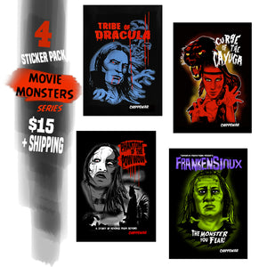 Movie Monster Sticker Pack