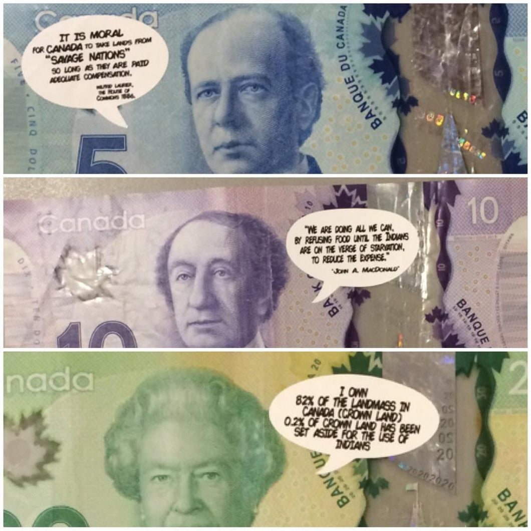 Not So Funny Money 350 Sticker Pack-Chippewar-First-Nations-Artist