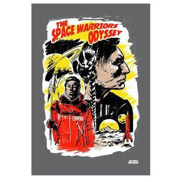 Space Warriors Print-Chippewar-First-Nations-Artist