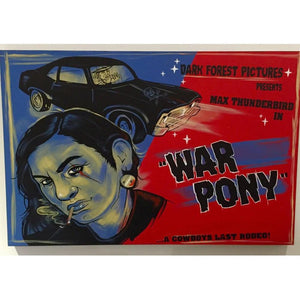 War pony original painting-Chippewar-First-Nations-Artist