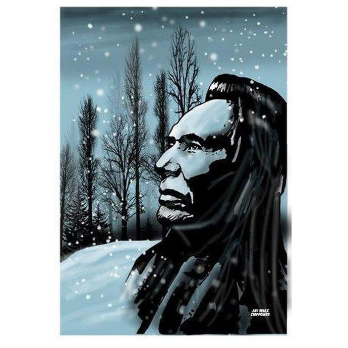 Winters Edge Print-Chippewar-First-Nations-Artist