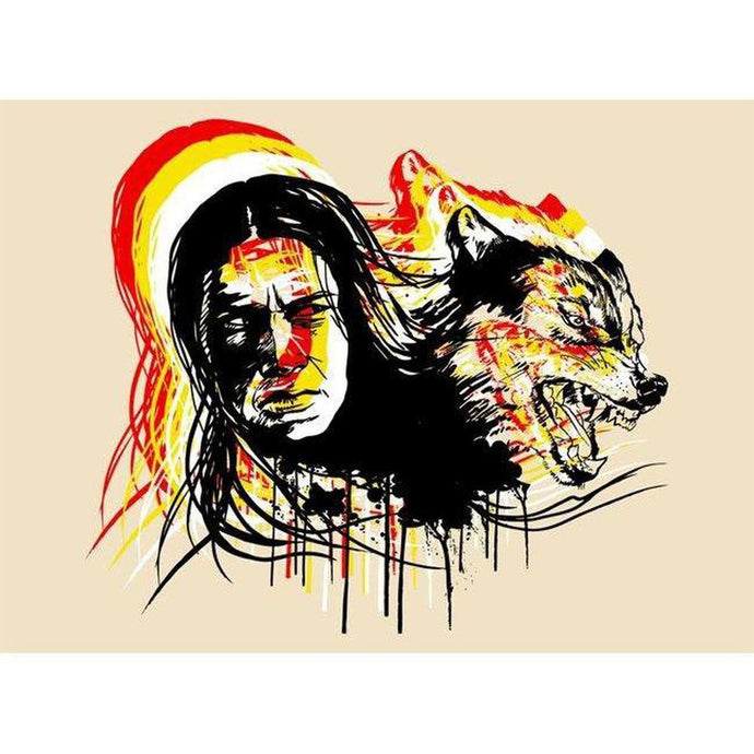 Wolf Paw- ScreenPrint-Chippewar-First-Nations-Artist