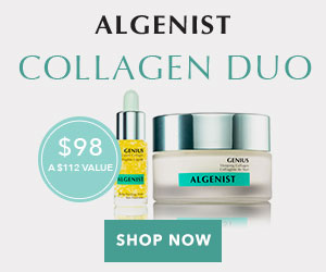 Exclusive Offer: Buy the NEW ALGENIST GENIUS Sleeping Collagen, get BONUS GENIUS Liquid Collagen Travel companion (3.7 ml) as a gift with purchase. Limited time offer for $98 (value $112), while supplies last.