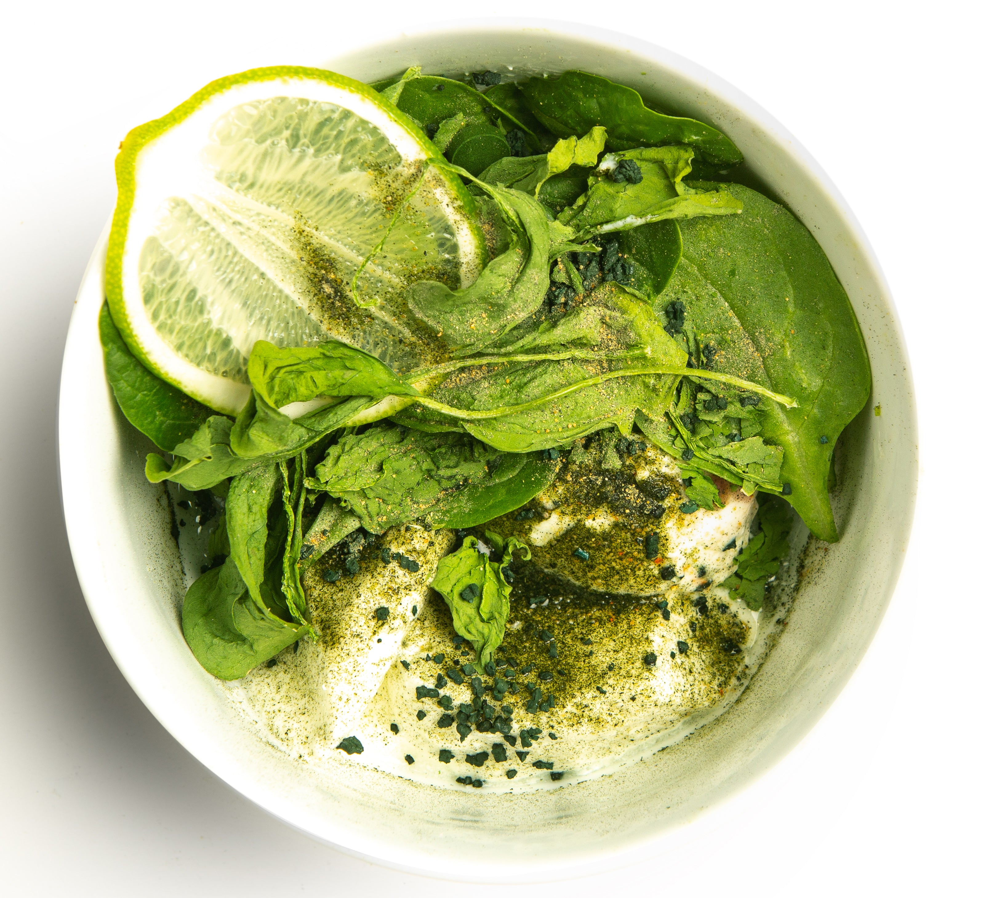 Chlorella (Collagen) Supplements_spinach salad