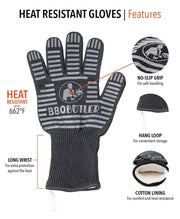 The BBQ Butler - Black Fabric Gloves - Single