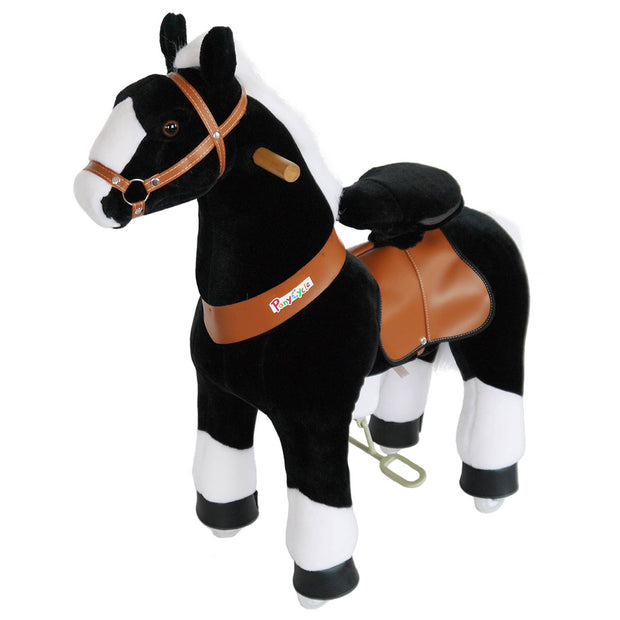 PonyCycle - PonyCycle ride on toy- Black horse with white hooof Medium