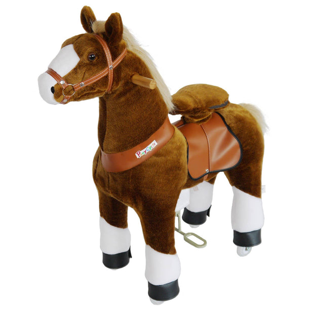 PonyCycle - PonyCycle ride on toy-Brown horse with white hoof Medium