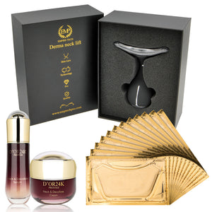 Empire Derma Neck Lift LED Device + 24K Gold Facial Mask + Neck and Decollete Collection
