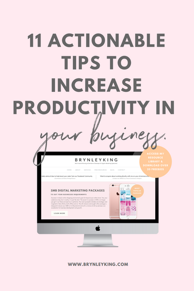 11 Actionable Tips to Increase Productivity in Your Business