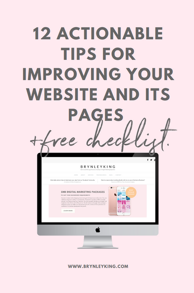12 Actionable Tips for Improving your Website and its Pages