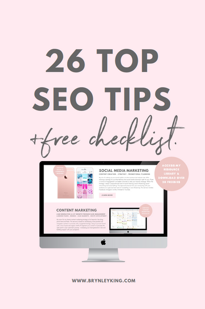 26 TOP SEO TIPS