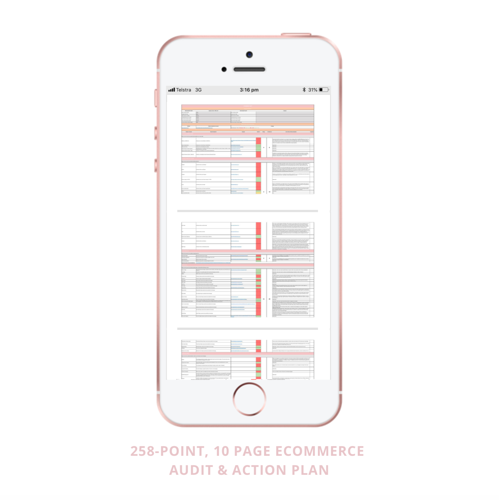 258 point eCommerce Audit by Brynley King