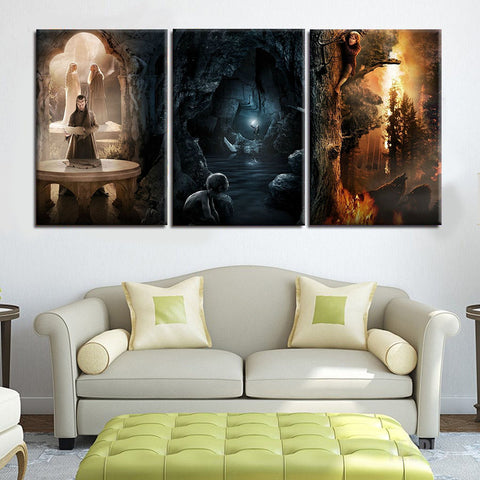 The Lord of The Rings Trilogy Frames - 3 Piece Canvas