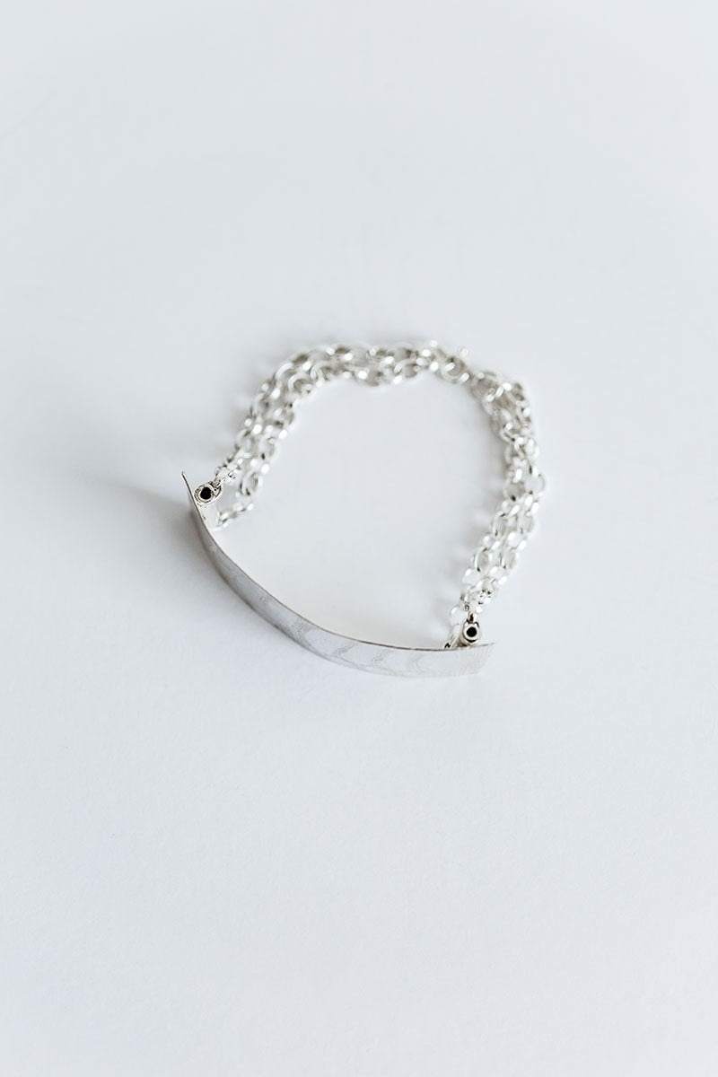 bracelets simple yen molecule contemporary si s by silver sized bracelet mb shop