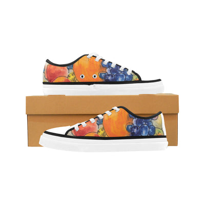 EW Fall Still Life Women's Low Top Shoes, Canvas Casual Shoes