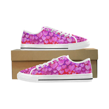 Hearts of Love Women's Low Top Shoes, Canvas Casual Shoes