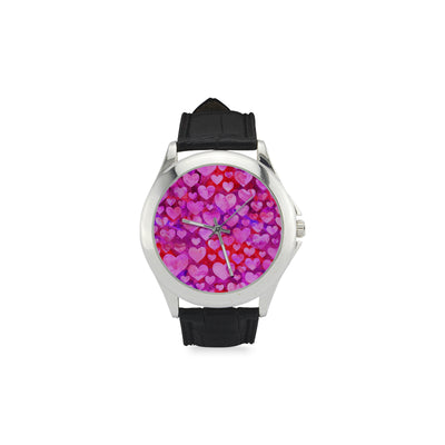 Hearts of Love Women's Classic Watch with Leather Band