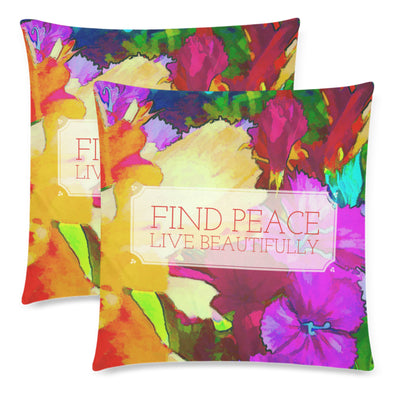 Find Peace Throw Pillow Cover 18
