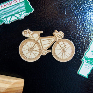 Bikepacking Bike Magnet