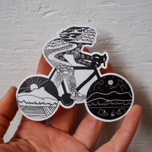 Bikepacking Babe Sticker