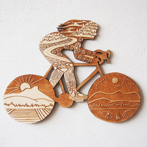 Bikepacking Babe Wall Art