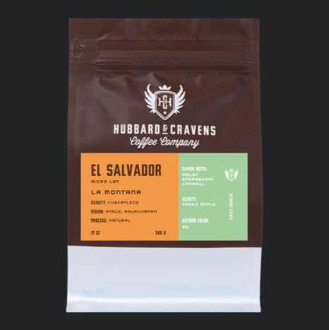Hubbard & Cravens El Salvador 12 oz. Coffee Bag