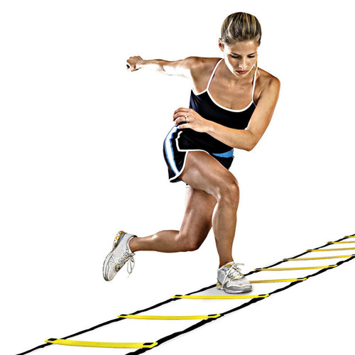 9 Rung Agility Ladder (16.5 ft / 5 m) for Soccer and Football Speed Training