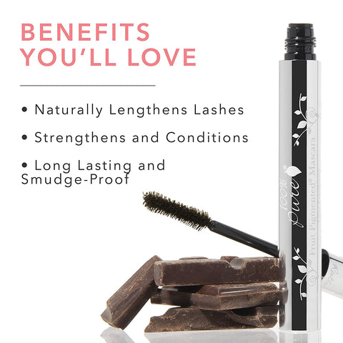 100% Pure Fruit Pigmented Ultra Lengthening Mascara - Dark Chocolate