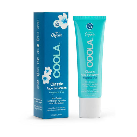 Coola Classic Face Organic Sunscreen Lotion SPF 50 (Unscented)