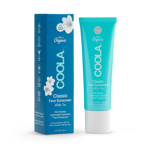 Coola Classic Face Organic Sunscreen Lotion SPF 50 (White Tea)