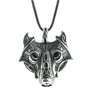 Pendant Norse Vikings Of The Necklace Norse Wolf Head Necklace Original Jewelry Animal Wolf Head hange