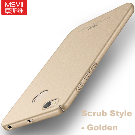 Original MSVII Luxury simple and scrub 3 levels oil painting case For Xiaomi redmi 4X