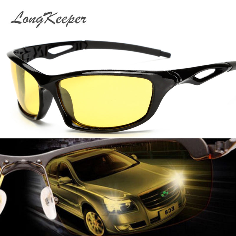 Night Vision Glasses For Headlight Polarized Driving Sunglasses Yellow Lens UV400 Protection Night Eyewear for Driver