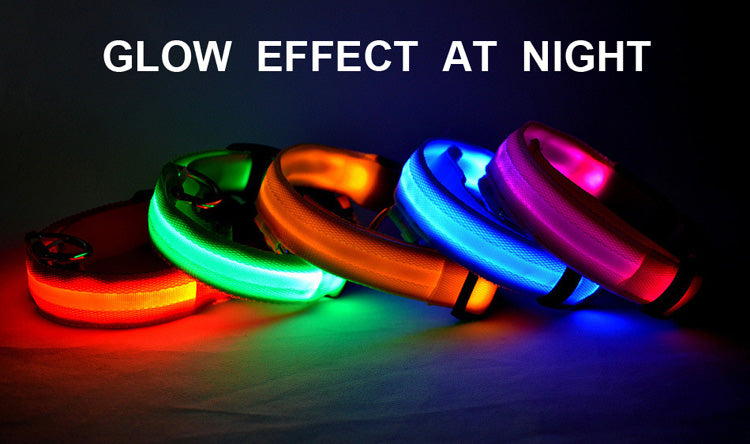 LED Nylon Collar For Cat Dog  for Night Safety