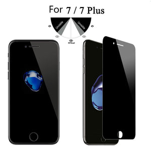 Anti Spy Privacy Tempered Glass Screen Protector For iPhone 7 7 Plus 6 6S plus 5 5S SE 5C 4 4S Anti-Spy Film 0.3mm 2.5D 9H