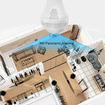Light Bulb IP Video Camera 360 Degree Fisheye Panoramic HD 960P Wireless Camera