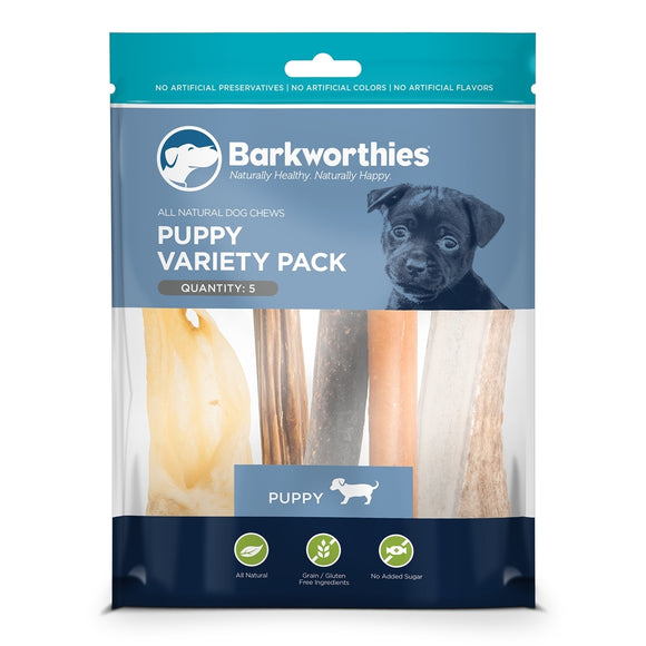 Barkworthies Puppy Variety Pack - 5ct