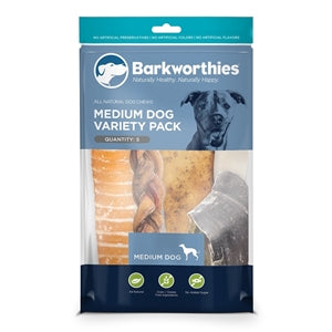 Barkworthies Medium Dog Variety Pack - 5ct
