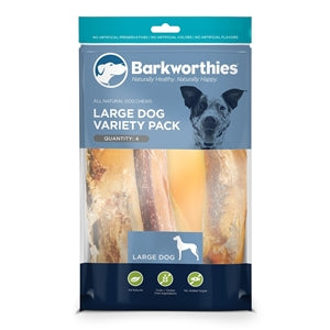 Barkworthies Large Dog Variety Pack - 4ct