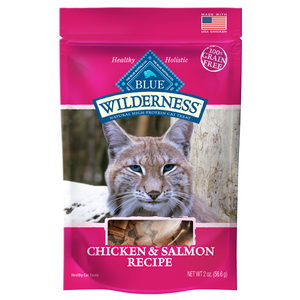 Blue Buffalo Blue Wilderness Chicken & Salmon Cat Treats 2oz