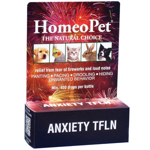 HomeoPet Anxiety TFLN Dog, Cat, Bird & Small Animal Supplement