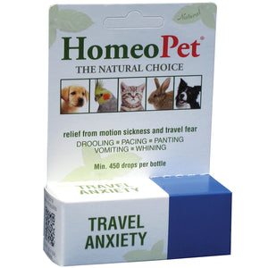 HomeoPet Travel Anxiety Dog, Cat, Bird & Small Animal Supplement