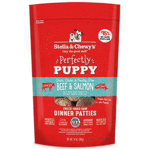 Stella & Chewy's Puppy Beef & Salmon Dinner Patties Grain-Free Freeze-Dried 14oz