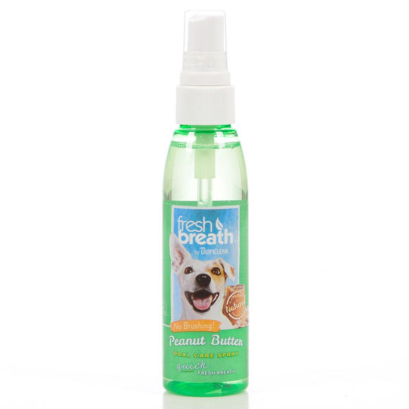 Tropiclean Oral Care Spray Peanut Butter 4 oz Bottle