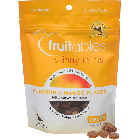 Fruitables Skinny Minis Pumpkin & Mango Soft & Chewy Dog Treats - 5oz
