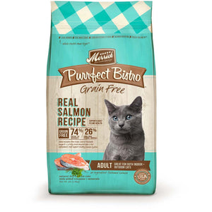 Merrick Purrfect Bistro Grain Free Real Salmon Adult Dry Cat Food (4lb, 12lb)