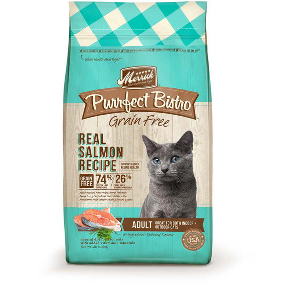 Merrick Purrfect Bistro Grain Free Real Salmon Adult Dry Cat Food 12lb