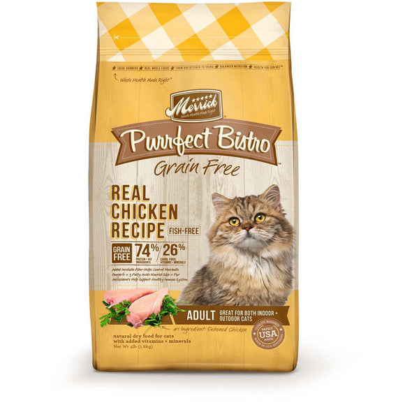 Merrick Purrfect Bistro Grain Free Real Chicken Adult Dry Cat Food 12lb