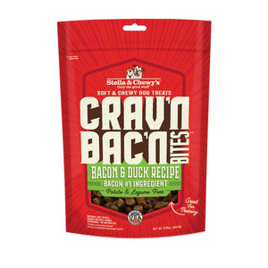 Stella & Chewy's Crav'n Bac'n Bites Bacon & Duck Recipe Dog Treats 8.25oz bag